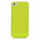 Protective Bricks Grain Back Case for Iphone 5 - Yellow