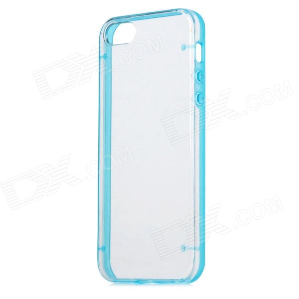 Glow-in-the-Dark Protective Back Case for Iphone 5 - Blue + Transparent