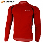 NUCKILY NJ600-L Quick Dry Long Sleeves Bicycle Cycling Suit Jersey - Red (Size-M)