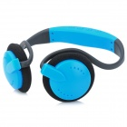 Stylish Neckband Headphones MP3 Player Headset w/ FM / TF Card Slot - Blue + Black