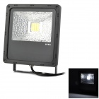 20W IP65 Protection White Light Fin Flood Light - Black (85-265V)