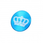 Stylish Crown Pattern Aluminum Alloy Home Button Protector for Iphone / Ipad / Ipod - Blue + White