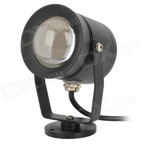 JR-10W Waterproof 10W 800lm 3500K LED Warm White Light Underwater Lamp - Black (DC 12~24V)