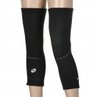 NUCKILY KE001 Sports Cycling Knee Wrap Warmer - Black (Size M / 2 PCS)