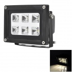 6W IP65 Projection Warm White Light Flood Light - Black (85-265V)