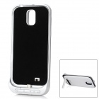 3200mAh External Lithium Battery Back Case Stand for Samsung Galaxy S4 i9500 - Black + White