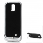 3200mAh External Lithium Battery Back Case Stand for Samsung Galaxy S4 i9500 - Black + Silvery White
