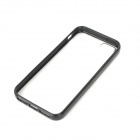 Simple Protective Matte Frosted PC + TPU Back Case for Iphone 5 - Translucent + Black
