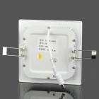 JR-6W 450lm 3500K Warm White Light Square Ceiling Light - White (85-265V)