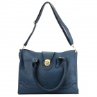 ZEA-BG1 Fashionable PU Handbag / Shoulder Bag for Women - Deep Blue