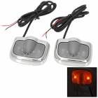 Land Rover Logo Pattern 2W 100lm 3-LED Green + White Car Courtesy Door Decoration Lights (Pair)
