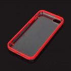 Protective Noctilucent TPU + PC Back Case for Iphone 5 - Red + Transparent