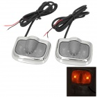 Crown Logo Pattern 2W 100lm 6000K 3-LED Yellow + White Car Courtesy Door Decoration Lights (Pair)