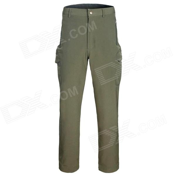 Outdoor Man's Fast Drying Hiking Trekking Trousers - Army Green (Size XL)