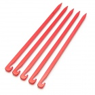 Outdoor Camping Aluminum Alloy Tent Nail - Red (5PCS)
