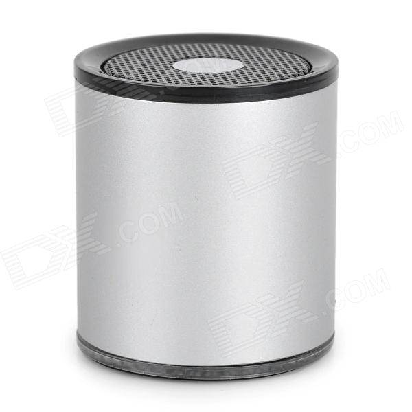 A1021 Portable Bluetooth v2.0 Stereo Speaker w/ TF / Microphone - Silver + Black ikanoo f99 portable bluetooth v3 0 stereo mp3 speaker for smartphone tablets black silver