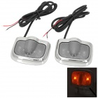 2W 100lm 6000K 3-LED Green + White Car Courtesy Door Decoration Lights for Skoda (Pair)