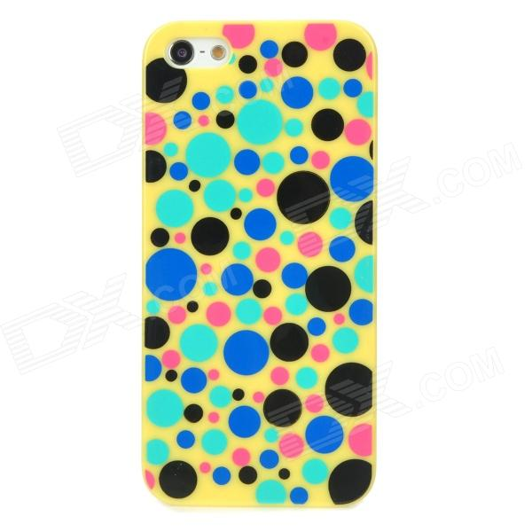 Cute Polka Dot Pattern Protective Plastic Back Case for Iphone 5 - Yellow viruses cell transformation and cancer 5
