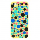 Cute Polka Dot Pattern Protective Plastic Back Case for Iphone 5 - Yellow