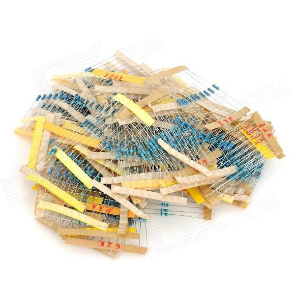 DIY 1/4W Resistance Metal Film Resistors - Blue (1200 PCS)