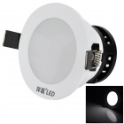 6W 6000K 400lm weiße LED Deckenleuchte / Down Light - White + Black (AC 90-260V)