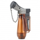 1300 Centigrade Windproof Blue Butane Jet Torch Lighter w / Keychain - Transparent Coffee