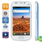 "MPI9082 MTK6515 Android 4.0 GSM Bar Phone w/ 4.0"" Capacitive Screen, Quad-Band and Wi-Fi - Blue"