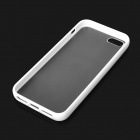 Simple Protective Matte Frosted PC + TPU Back Case for Iphone 5 - Translucent + White