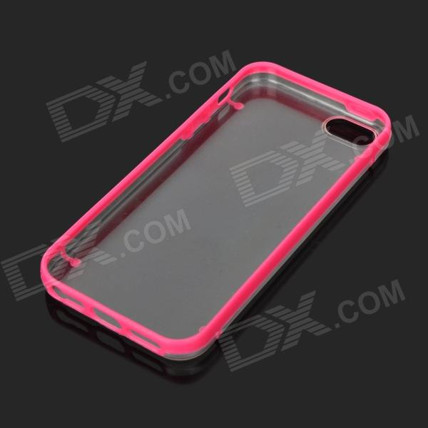 Protective Glow-in-the-dark TPU + PC Back Case for Iphone 5 - Rosy + Transparent pc tpu protective back case for iphone 5 black white