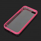 Protective Glow-in-the-dark TPU + PC Back Case for Iphone 5 - Rosy + Transparent