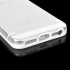Protective Glow-in-the-dark TPU + PC Back Case for Iphone 5 - White + Transparent