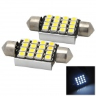 LY304 Festoon 39mm 1.6W 80lm 6000K 16-SMD 1210 LED White Car Reading Lamps (2 PCS)