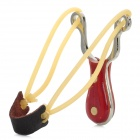 G-103 Stainless Steel Outdoor Slingshot Set - Silver + Brown