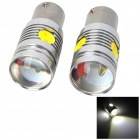 LY307 1156 13W 480lm 6000K White Car Brake / Steering Lamps w/ 3 x LED + 2 x CREE XP-E (2 PCS)