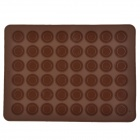 Round Dot Macaroon Biscuit Chocolate / Ice Tray Mold - Coffee