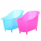 Creative Bathtub Plastic Storage Box - Deep Pink + Blue (2 PCS)