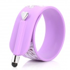Cool Slap On Bracelet Style Capacitive Screen Stylus Pen for Iphone / Samsung / Ipad - Purple