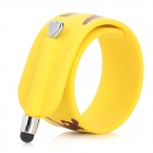 Estilo fresco tapa no Pulseira screen capacitiva caneta Stylus para iPhone / Samsung / Ipad - Amarelo