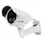 HYC-621M 1/3 SONY Super HAD CMOS Surveillance Security Camera w/ 2-LED IR Night Vision - White (PAL)