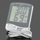 "TA218C Digital 3.9"" LCD Temperature Humidity Tester Thermometer - White + Grey (1 x AAA)"