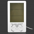 "TA298 Indoor Outdoor Digital 4.4 ""LCD Temperatur-Feuchtigkeits-Messinstrument w / Probe - Weiß (1 x AAA)"