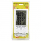"TA298 Indoor Outdoor Digital 4.4"" LCD Temperature Humidity Meter w/ Probe - White (1 x AAA)"
