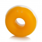 WL300 Doughnut Shape Silicone Earphone Cord Cable Winder Organizer - Yellow + White