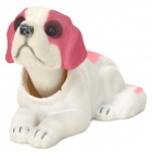 Car Interior Decoration Shaking-head Saint Bernard Dog Display Model - White + Pink