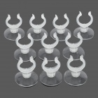 Aquarium Air Pipe Opening Mouth Suction Cups - Transparent (10 PCS)