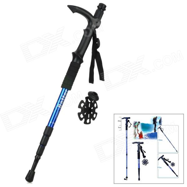 Better 4-Section Retractable Aluminum Alloy Trekking Stick Walking Hiking Pole - Blue + Black от DX.com INT