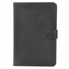 Lychee Pattern Protective PU Leather Case for Ipad MINI - Black