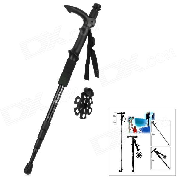 Better 4-Section Retractable Aluminum Alloy Trekking Stick Walking Hiking Pole - Black от DX.com INT