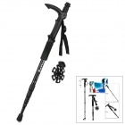 Better 4-Section Retractable Aluminum Alloy Trekking Stick Walking Hiking Pole - Black