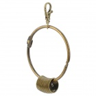 Simple Vintage Main Circle Zinc Alloy Keychain w/ 10 Individual Key Rings & Fob - Brass
